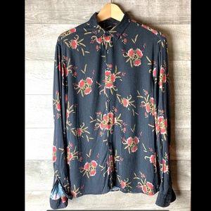 Zara Man button down floral M long sleeve shirt